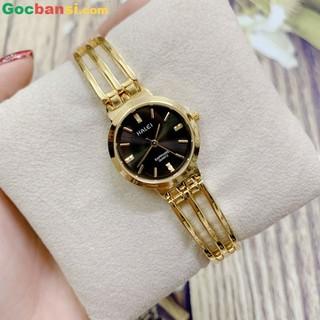 Đồng hồ nữ dây thép Halei máy Nhật mạ vàng Size 26mm siêu bền - Đồng hồ nữ dây thép Halei thumbnail