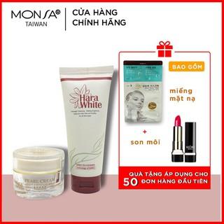 [QUÀ TẶNG 400K] COMBO 2 sản phẩm kem dưỡng trắng da ngọc trai pearl cream và sữa rửa mặt hara white - CB2SP thumbnail