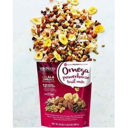 Hạt sấy khô tổng hợp Wildroots Omega powerhouse trail mix 680gr của Mỹ (các thành phần có trong túi tiện dụng giàu omega