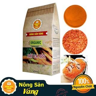 Bột Cà Rốt Chữa Mụn , Nám - Nông Sản Vàng 250gr - bột cà rốt 250gr thumbnail
