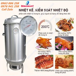 Lu Nướng Gà Vịt Inox Phi 30  - Lò Quay Gà Vịt Năng suất : 1-3 Con , Nhiệt Độ Tỏa Đều , An Toàn Tiện Lợi