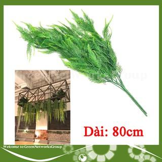 Cành cây giả lá liễu nhỏ rủ 80cm decor trang trí nhà cửa văn phòng ( 1 Cành ) Greennetworks - 0101100204957 thumbnail