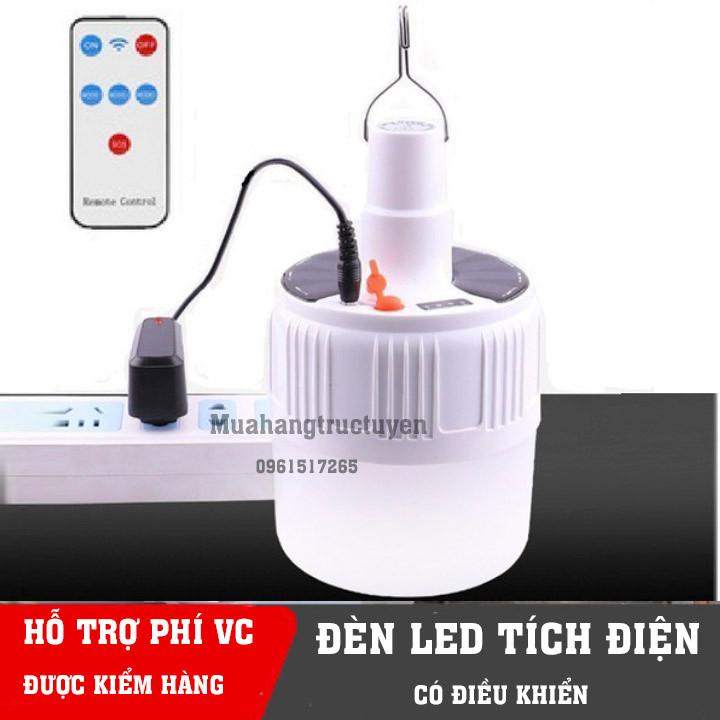 Bóng đèn tích điên có remote điều khiển và tấm pin năng lượng mặt trời - bóng đèn tích điện