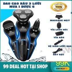 Máy cạo râu đa năng 4in1 chuyên cắt tóc, tỉa lông mũi, massage mặt cho nam giới