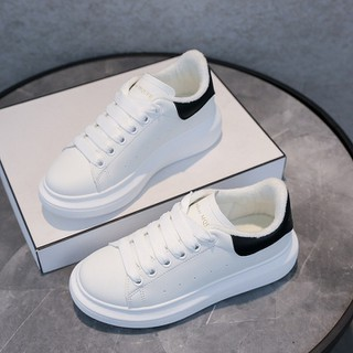 Giày sneaker nữ_ giày nữ trắng - [ tặng tất gấu] Giày nữ GN73 da PU cao cấp thumbnail
