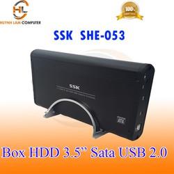 Box HDD 3.5inch SSK SHE 053 chuẩn Sata usb 2.0 hỗ trợ ổ cứng lên tới 2TB