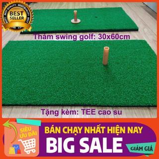 Thảm tập golf 30x60cm chính hãng PGM loại cao cấp, Tặng kèm tee cao su - golf3060 thumbnail