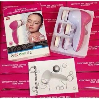 Máy Massage rửa mặt 5 loại đầu thay - cực sạch - đầu mềm mịn loại xịn - MS07 thumbnail