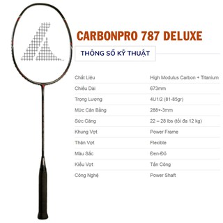 Vợt cầu lông ProKennex CARBON PRO 787 DELUXE - 162 thumbnail