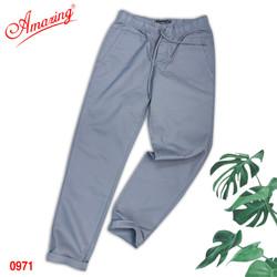 Quần Baggy nam Amazing, chất liệu kaki, form suông Unisex, tôn dáng đẹp, trẻ trung, big size, màu xám đá