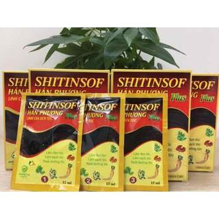 Dầu gội đen tóc SHITINSOF Plus Hán Phương Linh chi Gội Là Đen - Dầu Gội Shitinsof Gói thumbnail