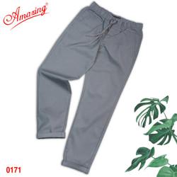 Quần Baggy nam Amazing, chất liệu kaki, form suông Unisex, tôn dáng đẹp, trẻ trung, big size, xám nhạt