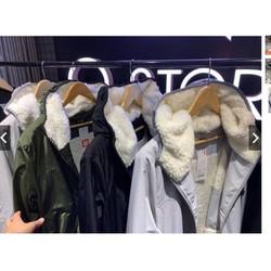 [Miễn ship] [LOẠI DÀY 3 LỚP] Áo khoác nam nữ lót lông cừu chống gió chống nước mềm mại có túi có khóa tiện lợi