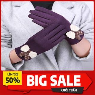 găng tay nữ chất vải nỉ lót lông bên trong - GTNDL-1 thumbnail