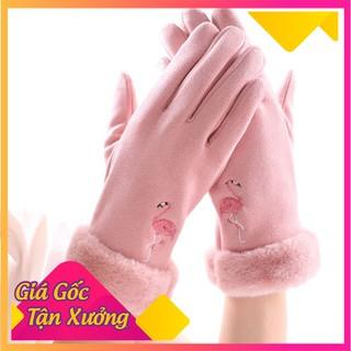 Găng tay Nữ , Cảm ứng, Da lộn lót nỉ siêu ấm - GTNDL-1 thumbnail
