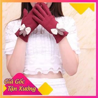găng tay mùa đông nữ chất da lộn - GTNDL-1 thumbnail
