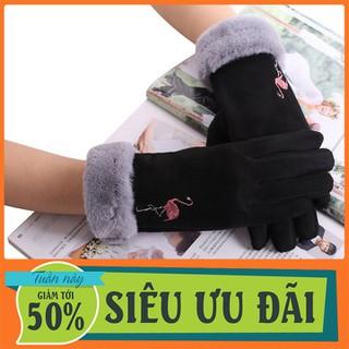 Găng tay nữ, cảm ứng, chất liệu nỉ cao cấp, siêu giữ ấm - GTNDL-1 thumbnail