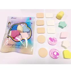 Bông mút trang điểm SET 15 cái siêu mềm mịn cute thích hợp cho trang điểm nền và dặm phấn