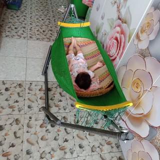 bộ võng xếp em bé cả võng và khung - võng và khung. thumbnail