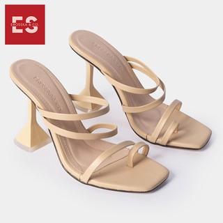 Dép cao gót thời trang Erosska mũi vuông kiê u da ng xo ngo n phô i dây đê nho n hi nh no n cao 9cm màu nude _ EM062 - EM062NU thumbnail