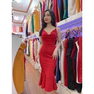 Đầm đuôi cá hai dây có mút cao cấp thời trang dự tiệc dạo phố - CHI92 thumbnail