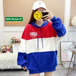 Áo khoác nỉ Hoodie KN18 phối sọc ngang 3 màu kiểu dáng Hàn Quốc năng động trẻ trung form unisex nam và nữ