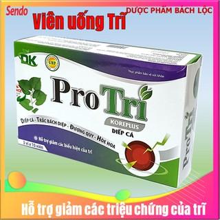 Viên Uống Pro Trĩ - Giúp giảm triệu chứng đau rát, chảy máu, ngứa, sa búi trĩ . Giúp tăg tính bền thành mạch, . giảm táo bón- Hộp 30 viên - Pro Trĩ thumbnail
