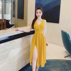 Đầm maxi cổ tim cực xịn thời trang dạo phố đi biển cao cấp