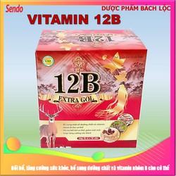 [Hộp 100 viên] Viên Uống Bồi Bổ Sức Khỏe 12B  Extract Gol - Giúp bổ sung vitamin và dưỡng chất, tăng sức đề kháng, giảm mệt mỏi, giúp ăn ngon miệng