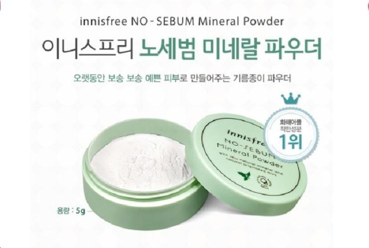 Phấn Phủ Bột Kiềm Dầu Innisfree. No Sebum Mineral Powder 5G [ Hàng Chuẩn ] - Innisfree. No Sebum Mineral Powder 5G 1