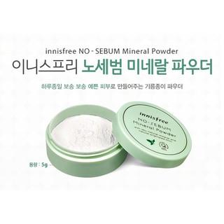 Phấn Phủ Bột Kiềm Dầu Innisfree. No Sebum Mineral Powder 5G [ Hàng Chuẩn ] - Innisfree. No Sebum Mineral Powder 5G 6