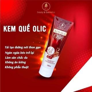 [ Chính Hãng ] KEM TAN MỠ OLIC- Kem quế Olic- Tan Mỡ bụng-Không nóng rát không cần tập luyện 100G - Tm63 thumbnail