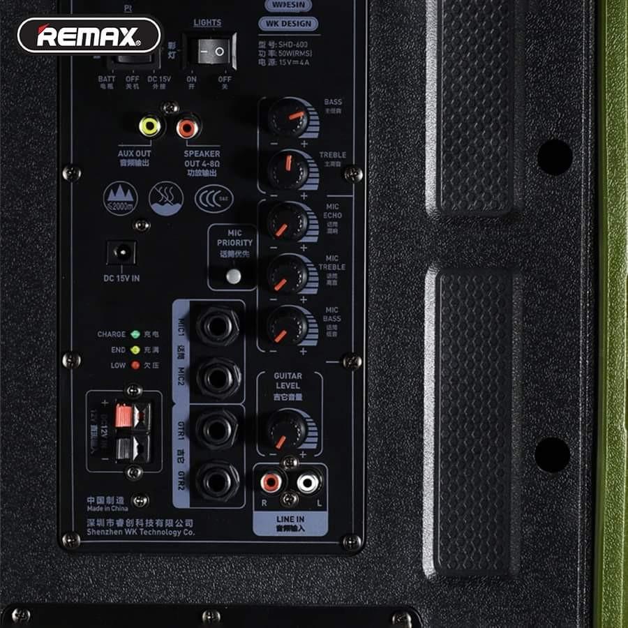 Loa kéo Bluetooth Karaoke công suất lớn Remax RB-X5 kèm micro không dây,  giá chỉ 3,909,000đ! Mua ngay kẻo hết!