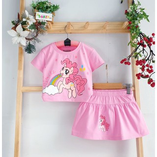 Sét Váy Bé Gái pony váy pony Đầm Pony cho bé gái đầm bé gái pony chân váy kèm chip bé gái size nhí đại 2-15 - Sét Váy Bé Gái Pony thumbnail