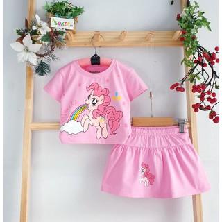 Sét Váy Bé Gái pony váy pony Đầm Pony cho bé gái đầm bé gái pony chân váy kèm chip bé gái size nhí đại 2-15