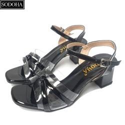 Giày Nữ – Giày dép nữ cao gót SODOHA Đế Cao 5cm Quai Mảnh Điệu Đà
