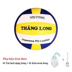 Bóng chuyền Thăng Long 7700 da Nhật Bản - Tặng Túi đựng bóng, kim bơm bóng tiêu chuẩn