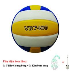 Bóng chuyền Thăng Long 7400 da Nhật Bản - Tặng Túi đựng bóng, kim bơm bóng tiêu chuẩn