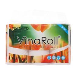 Giấy vệ sinh Vinaroll 3 lớp loại 6 cuộn không lõi cao cấp