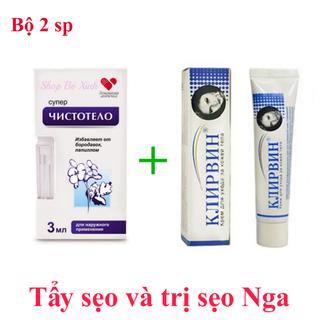 BỘ T-R-Ị SẸO NGA - Bộ gồm 1 kem t-r-ị sẹo Nga + 1 serum tẩy nốt ruồi sẹo lồi Nga - CZA1 thumbnail