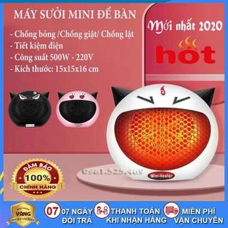 Quạt sưởi ấm mini để bàn công suất 500W tiết kiệm điện - Quạt sưởi mini_28155 thumbnail