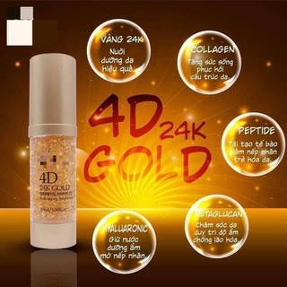 Serum vàng 24K 4D - Dưỡng trắng, Dưỡng ẩm, Xóa mờ nếp nhăn, Ngăn ngừa lão hóa (30Ml) - SERUM VÀNG 24K thumbnail