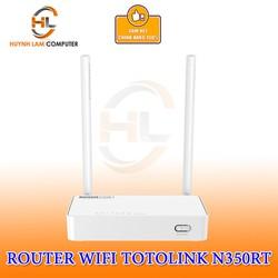 Router WiFi Totolink N350RT chuẩn N300Mbps 2 râu chính hãng DGW phân phối
