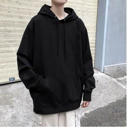 Áo hoodie unisex đen trơn vải đẹp – áo hoodie unisex