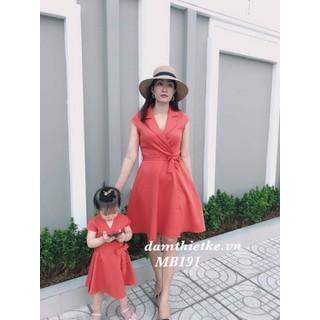 Đầm mẹ và bé cổ ves- Hàng thiết kế cao cấp - MB191 thumbnail