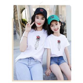 [ Siêu SALE ][ Cho Xem Hàng ] áo thun mẹ và bé in hình Cô Bé cực dễ thương cực đẹp cực [ HOT ] chỉ có tại thời trang FanTom - áo thun mẹ và bé 04 thumbnail