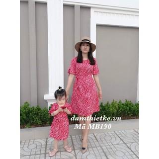 Đầm mẹ và bé hoa cúc họa mi-Hàng thiết kế cao cấp - MB190 thumbnail