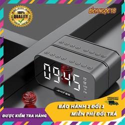 Loa bluetooth Amoi G5, loa bluetooth 5.0, loa không dây, loa bluetooth kiêm đồng hồ báo thức, hiển thị nhiệt độ, âm thanh Hires, hỗ trợ thẻ nhớ mở rộng, usb, kết nối AUX