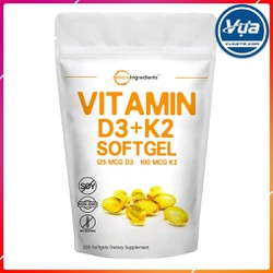 Hỗ Trợ Xương Khớp Micro Ingredients - Vitamin D3 + K2 (300 viên)