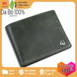 Bóp ví nam da bò thật 4U cao cấp, có nhiều ngăn đựng tiền và thẻ tiện dụng dáng ngang sang trọng FA239